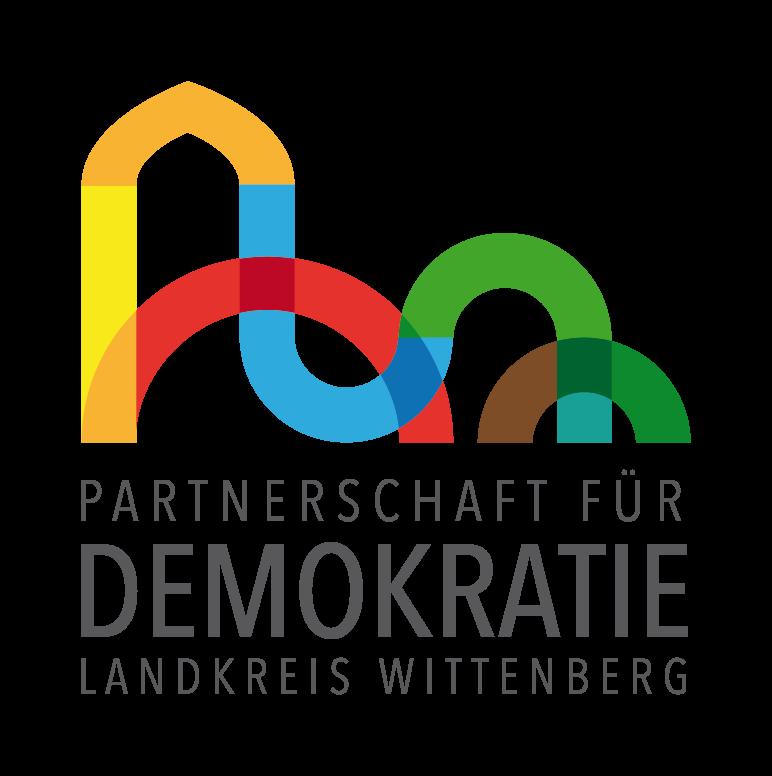 Logo der Partnerschaft für Demokratie im Landkreis Wittenberg